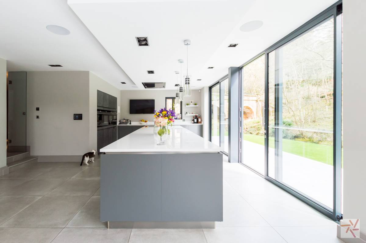 Very Large Contemporary Kitchen With Amazing Light Available