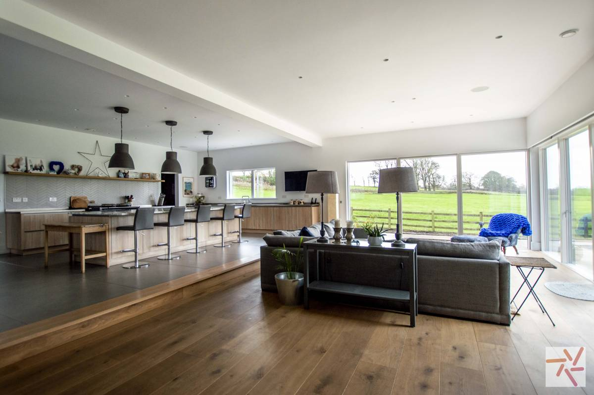 Contemporary Home With Large Open Plan Kitchen In Lancashire